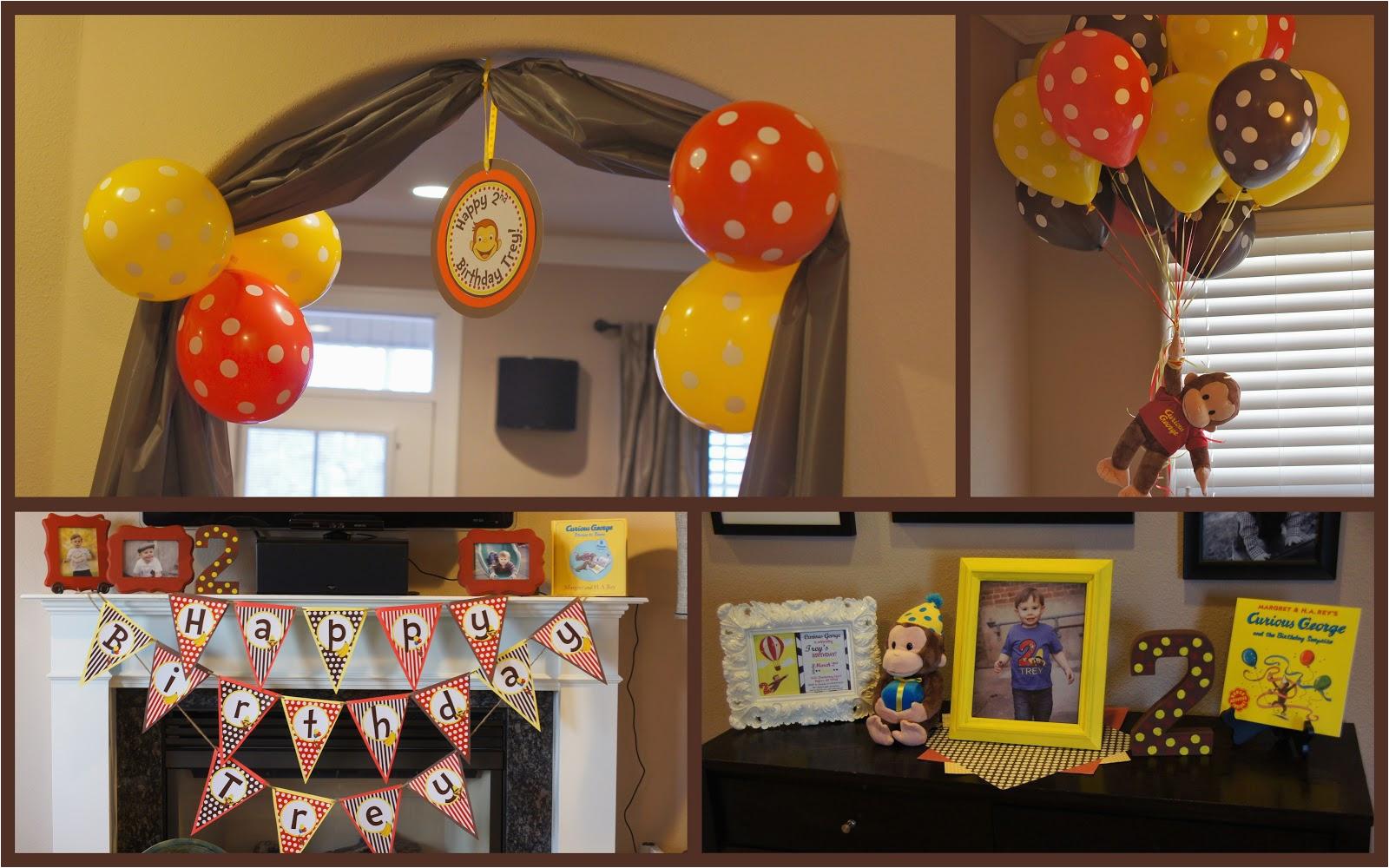 Curious George Birthday Decoration Ideas Birthdaybuzz