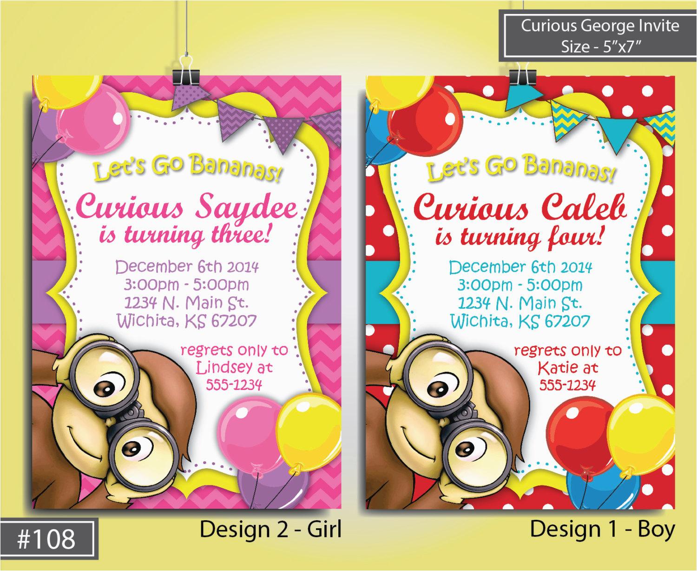 unique ideas for curious george birthday invitations