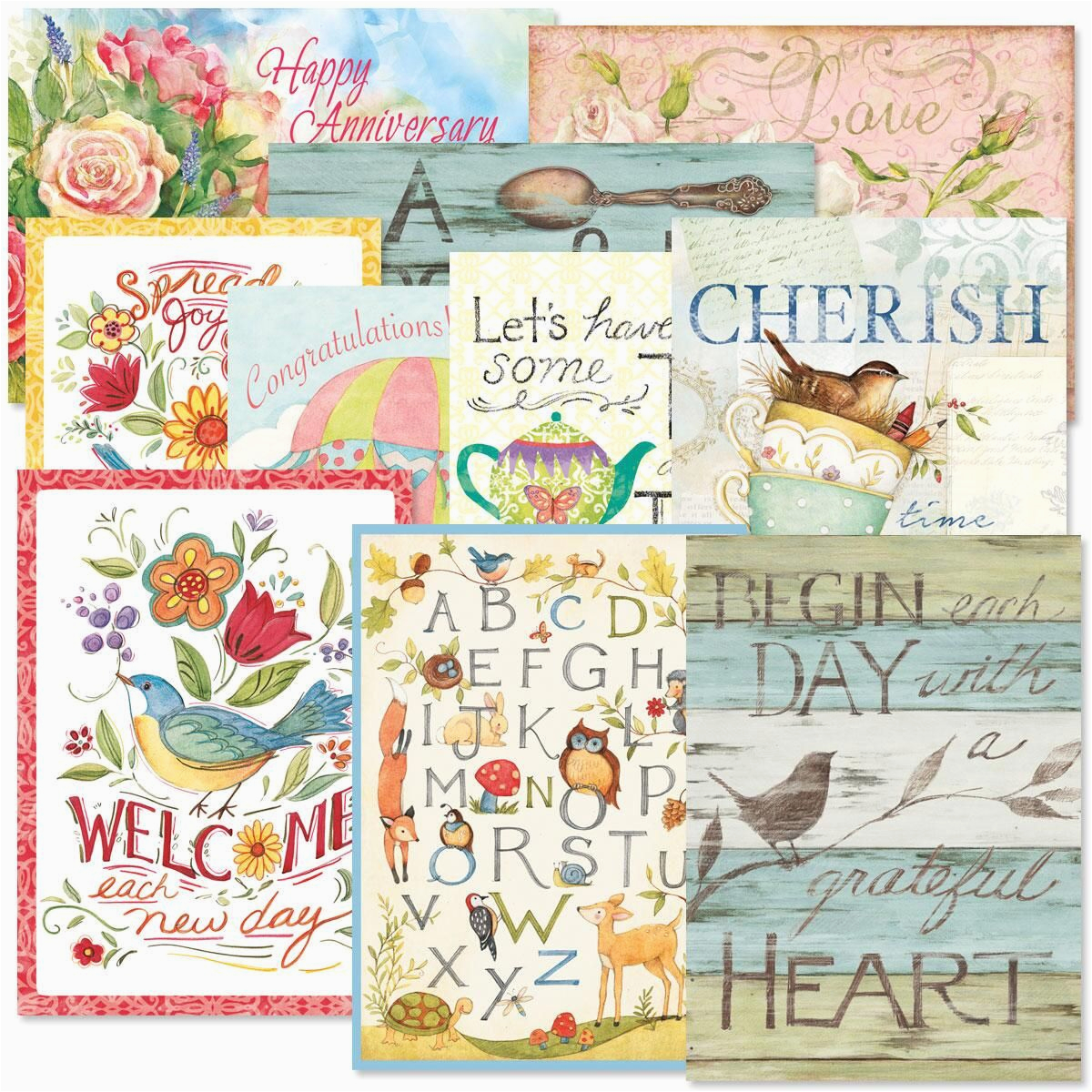 sentiments all occasion greeting cards value pack