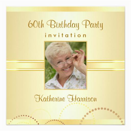 60th birthday party custom photo invitations zazzle