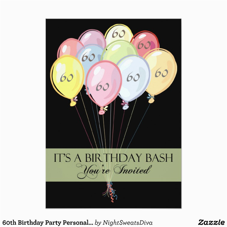 Custom 60th Birthday Invitations Party Personalized Invitation Zazzle