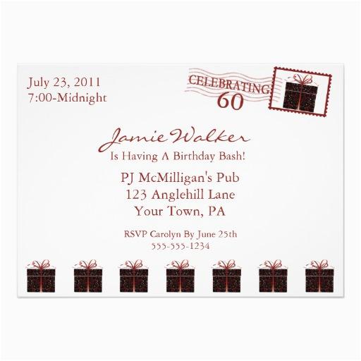 unique 60th birthday party invitation 5 quot x 7 quot invitation