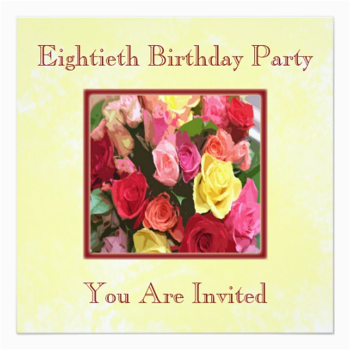 Custom 80th Birthday Invitations Personalized Party Zazzle