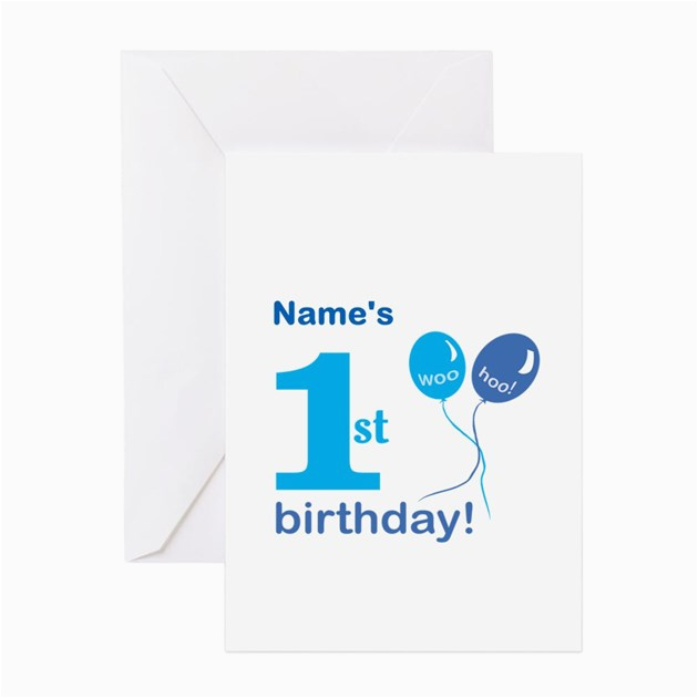 custom first birthday greeting cards by alywear