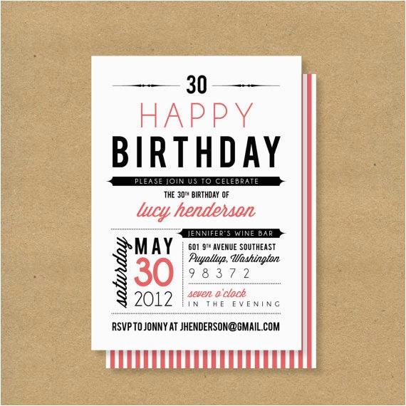 adult birthday invitations 35 pretty