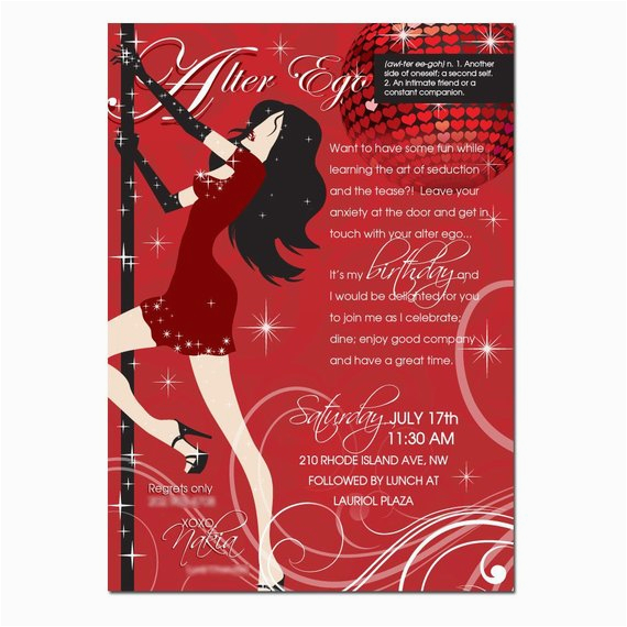 Adult Personalized Birthday Invitations