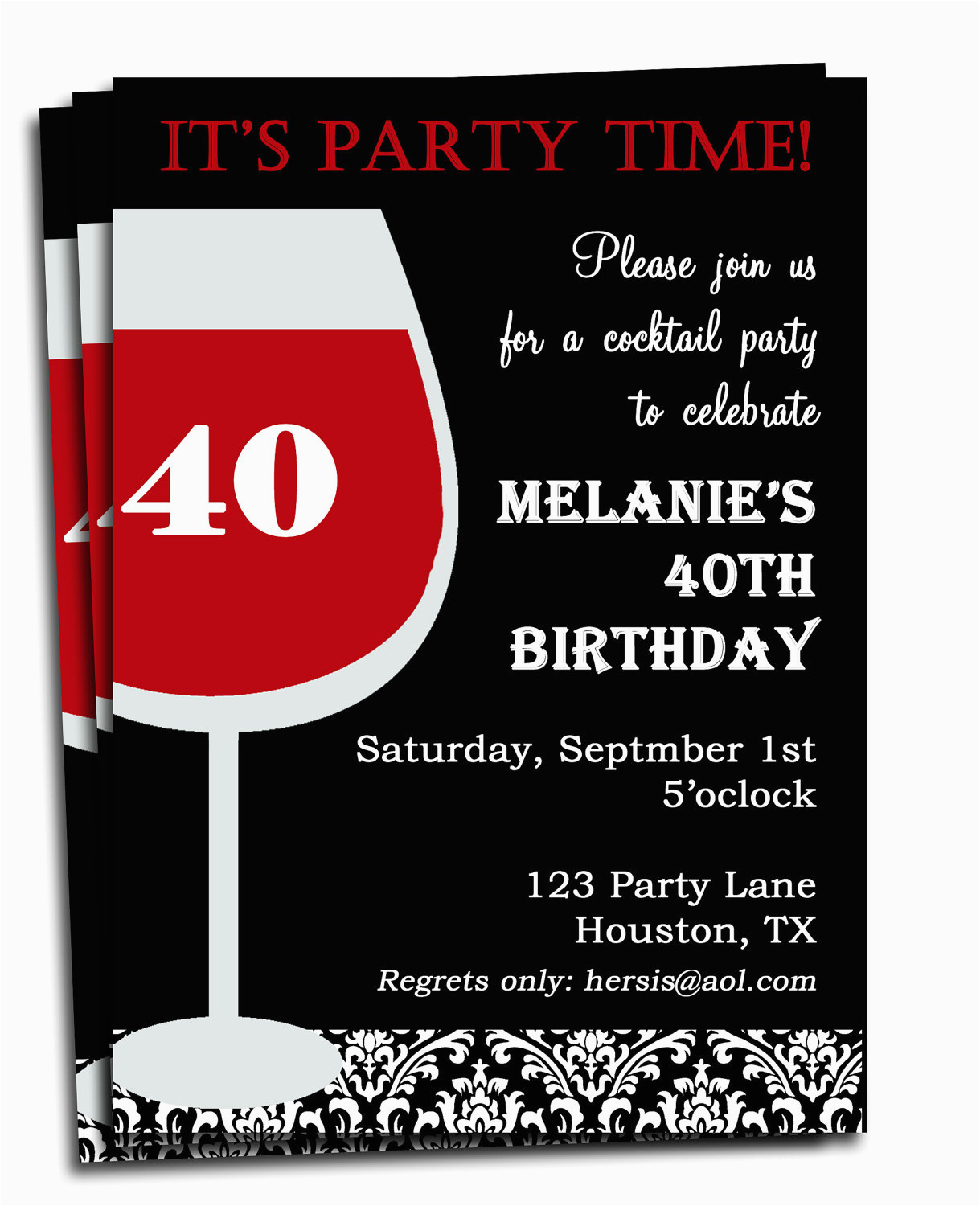 Custom Birthday Invitations For Adults Free Printable Personalized