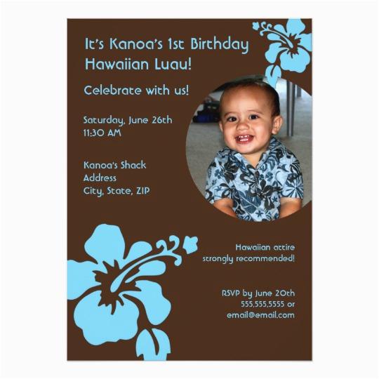 hawaiian luau custom photo birthday invitation 161348174300221534