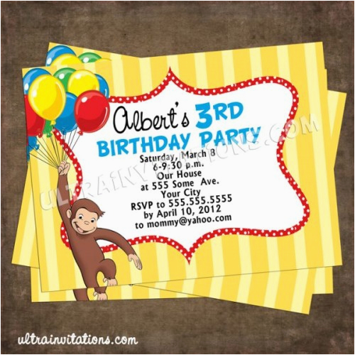 Curious George Party Invites