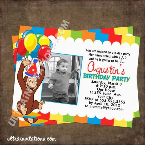 curious george party invites 34