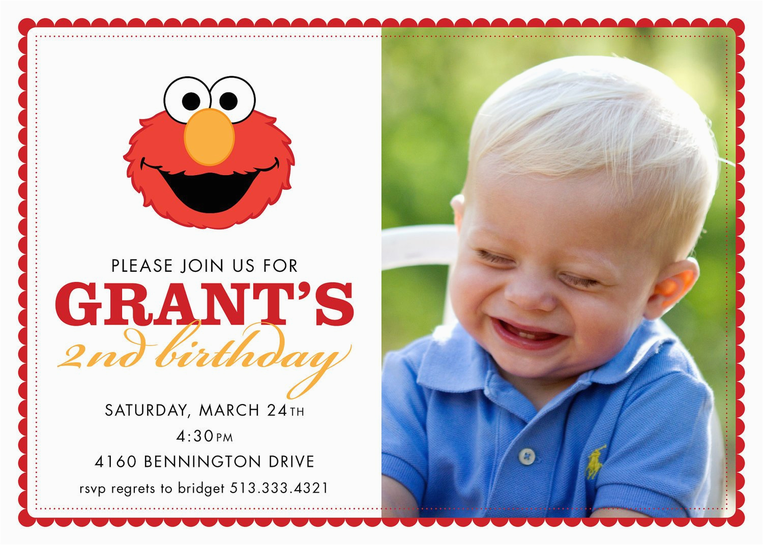 Custom Elmo Birthday Invitations Chandeliers Pendant Lights