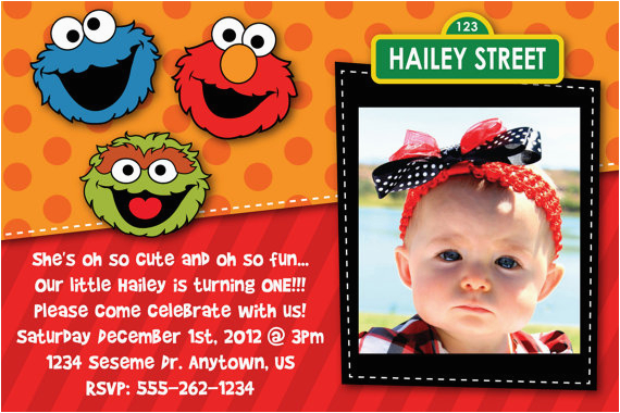 Custom Elmo Birthday Invitations Free Printable Sesame Street Party