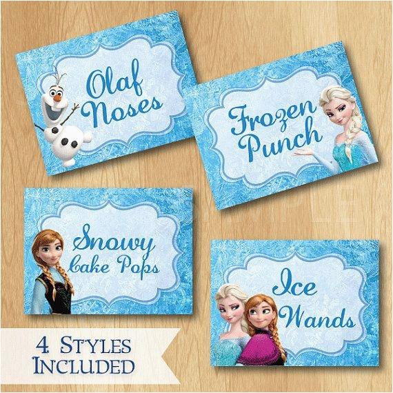 Custom Made Birthday Cards Printable Disney Frozen Food Labels Custom Disney Frozen Birthday