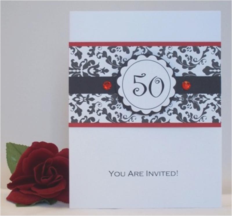 homemade 50th birthday invitation ideas