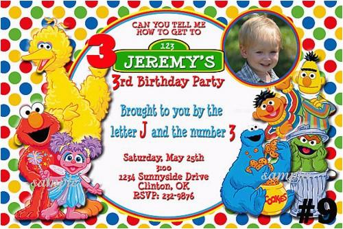 Custom Sesame Street Birthday Invitations Free Printable