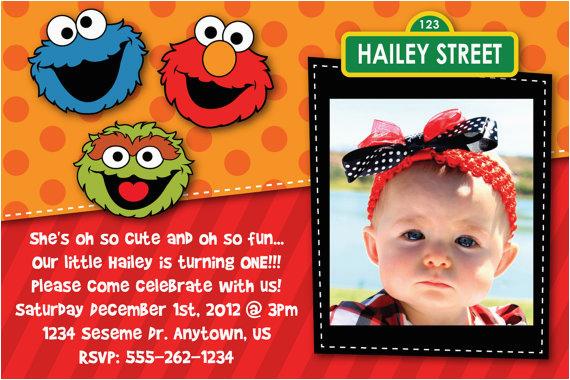 Elmo Sesame Street Birthday Party Invitations Free Printable