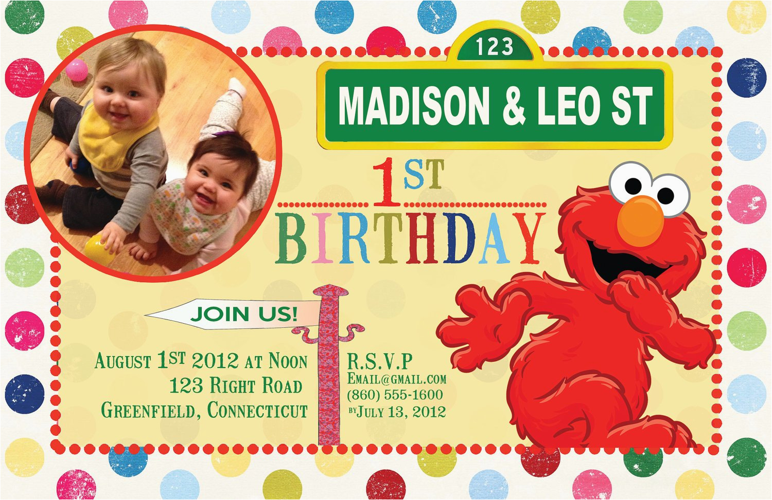 Custom Sesame Street Birthday Invitations Items Similar To