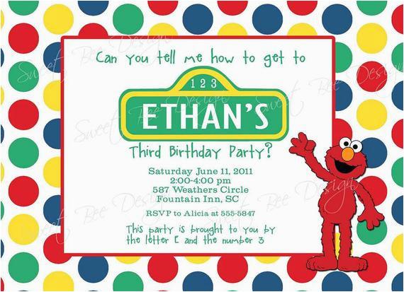 Custom Sesame Street Birthday Invitations Invitation Printable