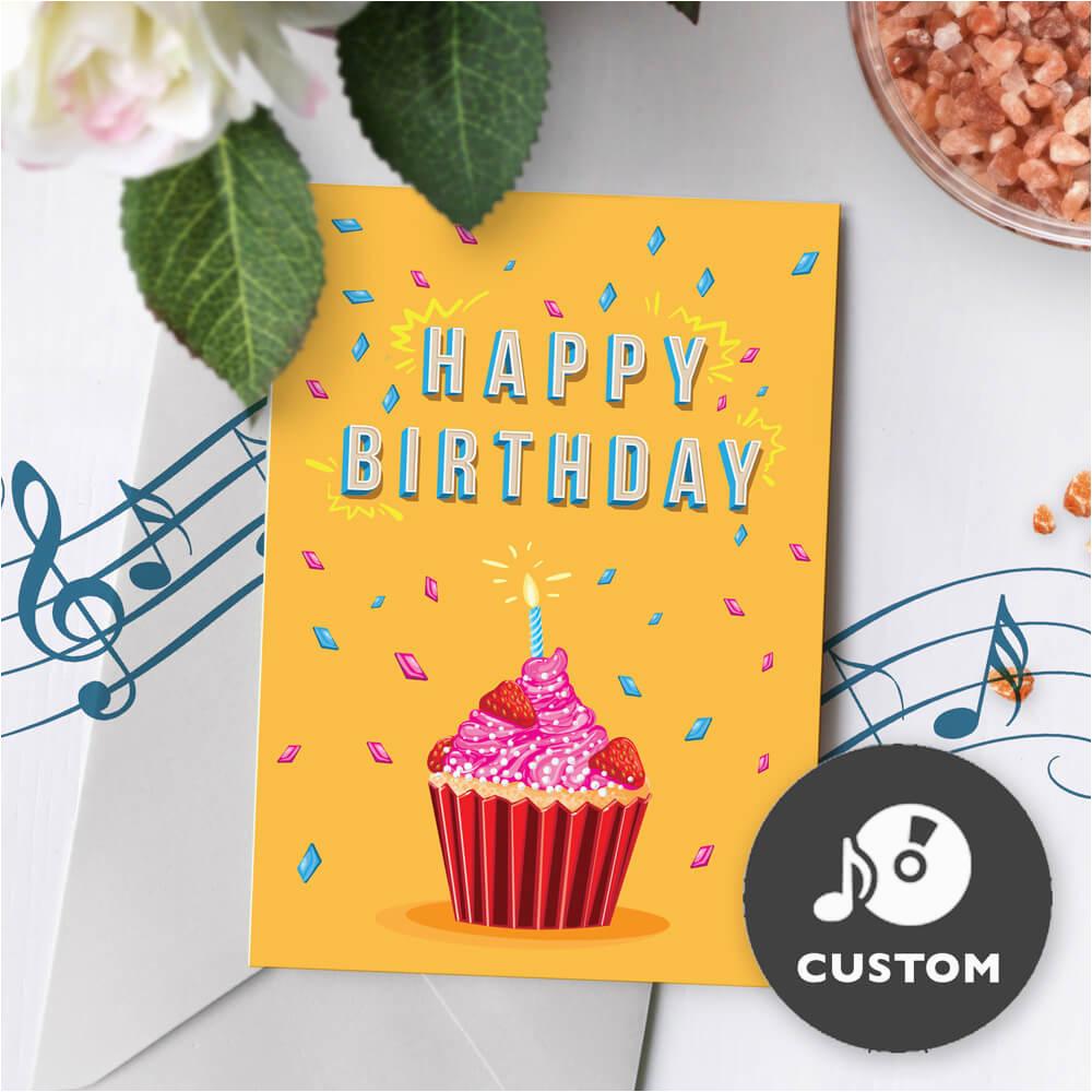 birthday musical greeting card 5 x 7 inch custom sound