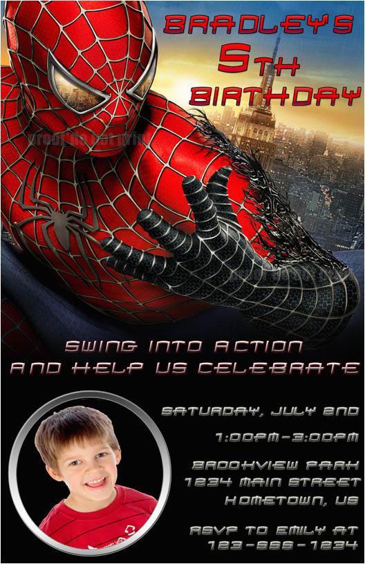 Custom Spiderman Birthday Invitations 40th Ideas Invitation Templates