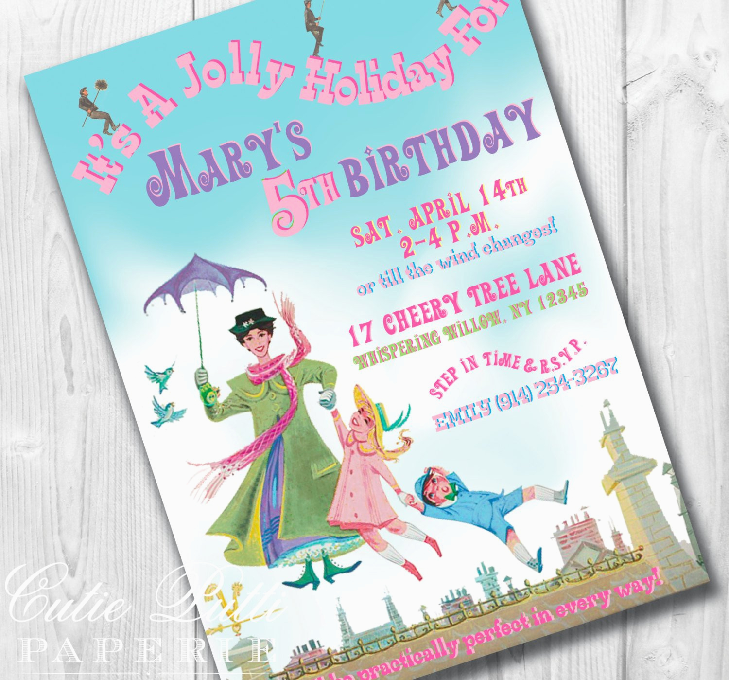 Customizable Birthday Invitations Free Printables Mary Poppins Party Printable Custom