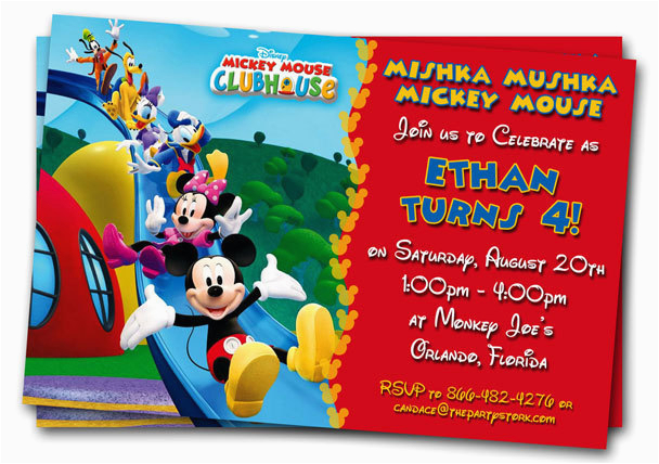Customizable Birthday Invitations Free Printables Mickey Mouse Clubhouse Printable Personalized