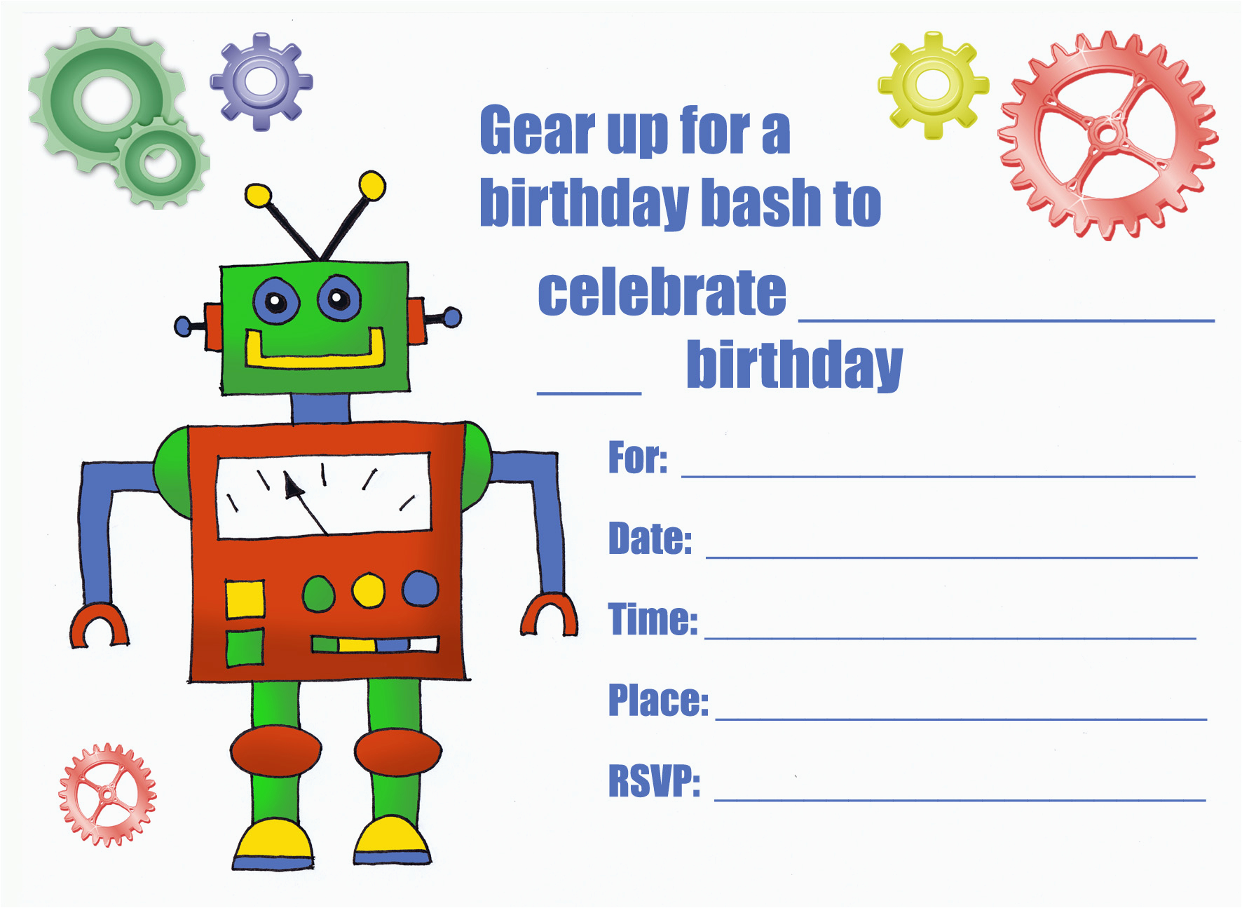 Customizable Birthday Invitations Free Printables Printable Personalized For Kids 1st