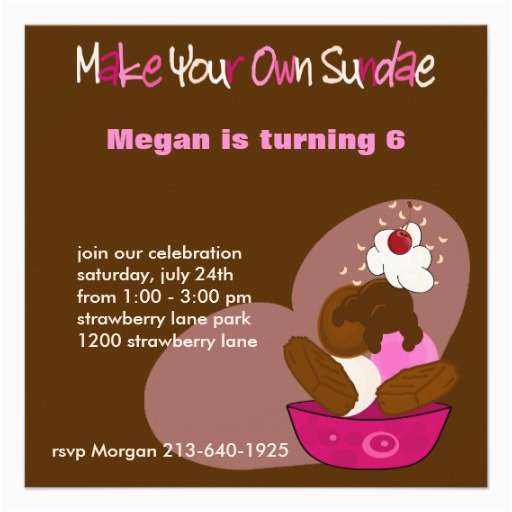 make your own sundae birthday invitation 161341624850405488