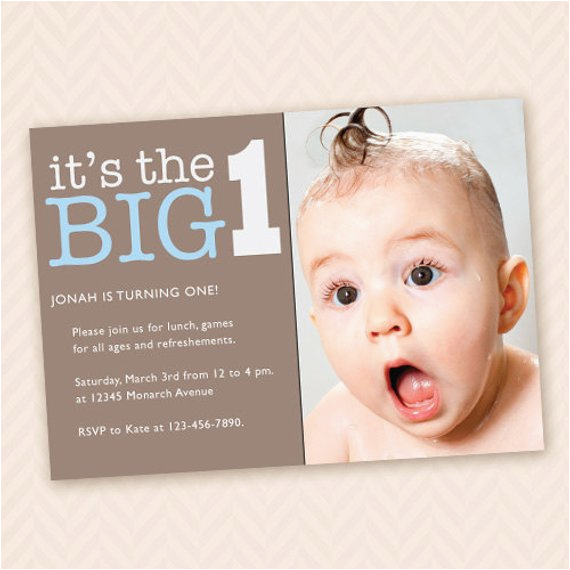 Custom First Birthday Party Invitation