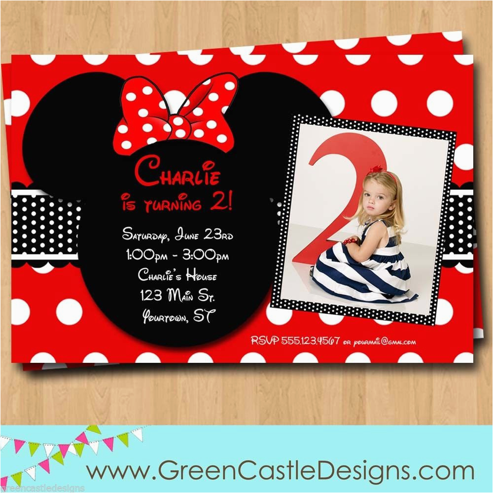 Customized Birthday Decorations Free Minnie Mouse Invitations Template