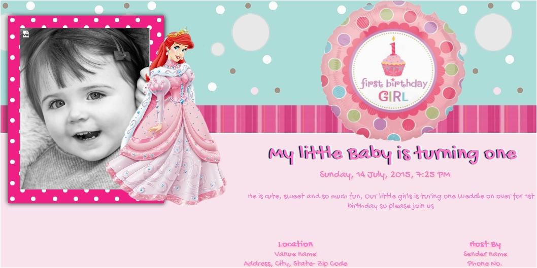 create birthday invitation card with photo online free