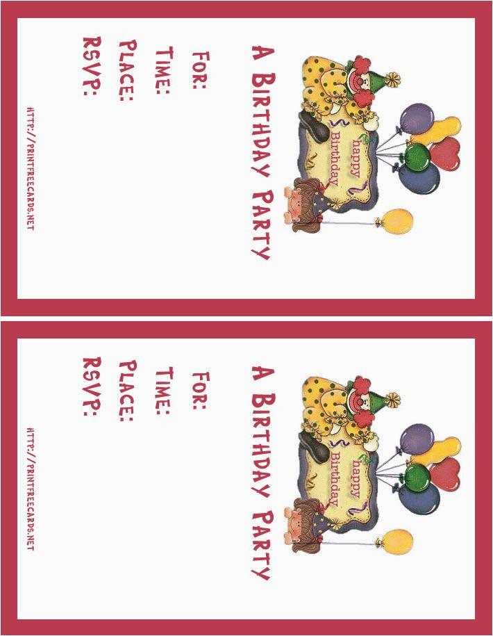 create free birthday invitation card online
