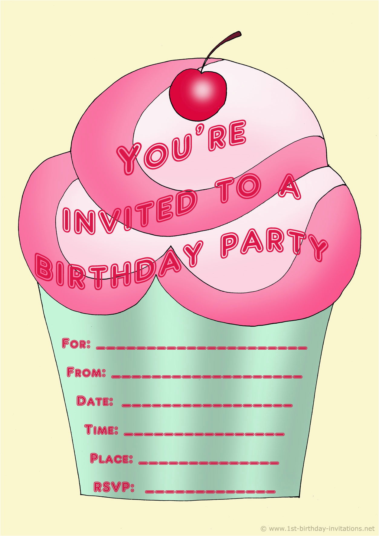 Customized Birthday Invitations Online Free Printable Personalized For Kids 1st