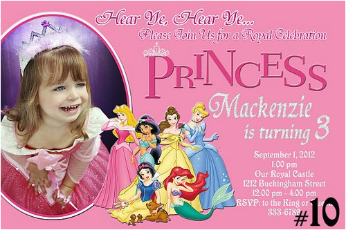 Customized Birthday Invitations Online Free Printable Personalized Disney Princess