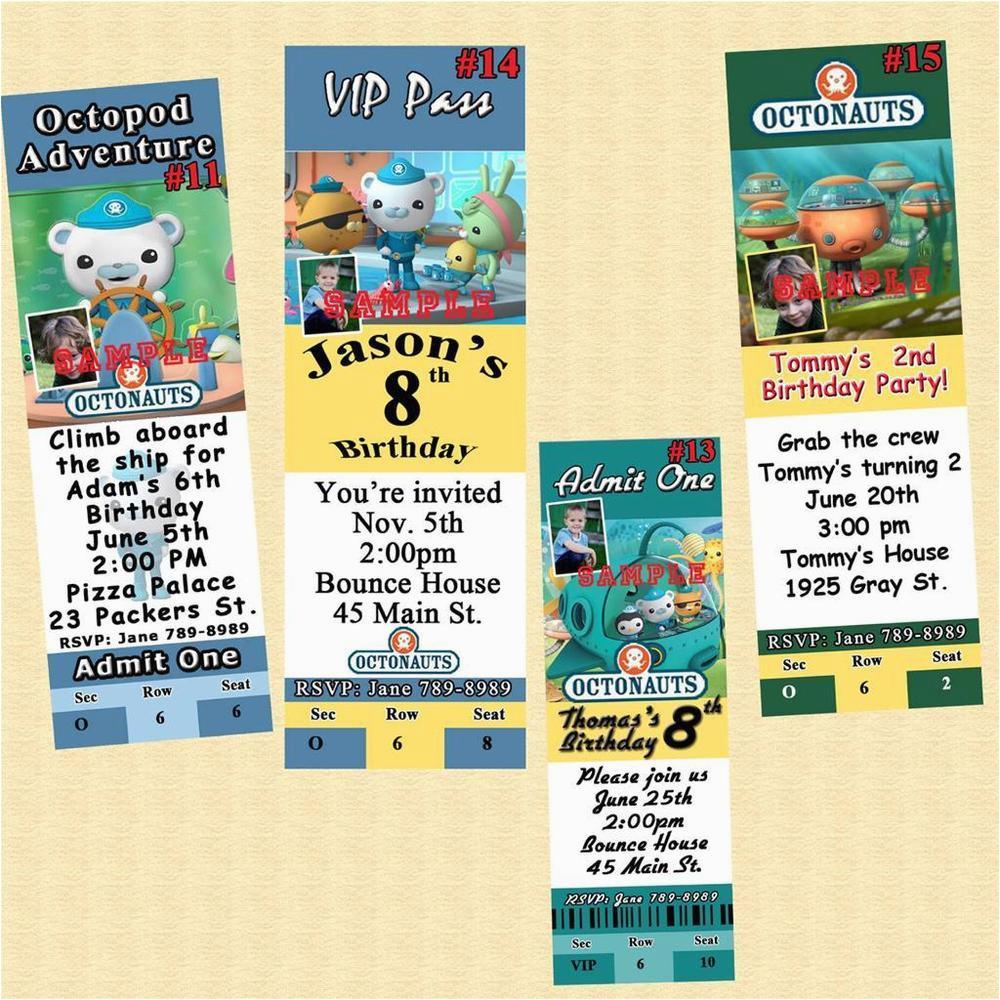 Customized Birthday Invitations Online Octonauts 10 Ea W Envelopes