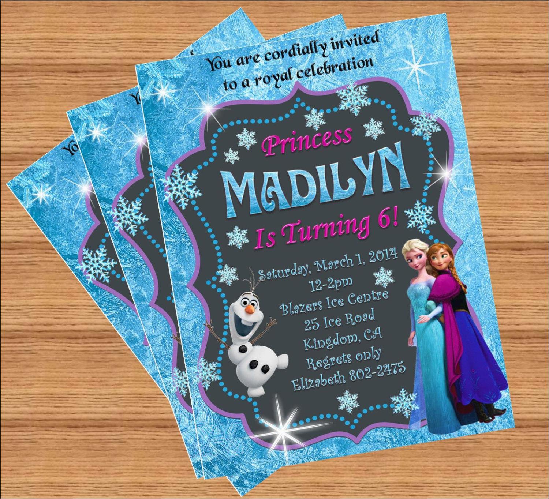 Customized Birthday Invites Frozen Birthday Invitation Custom Invitation