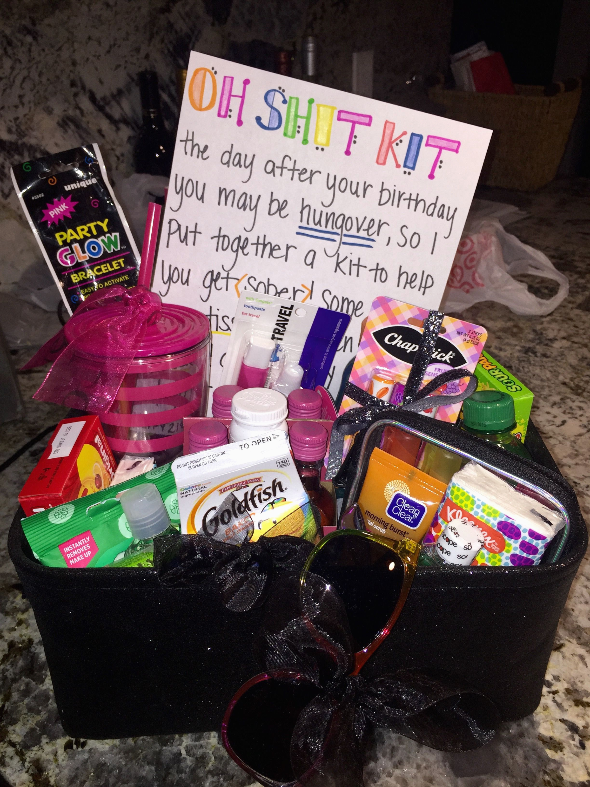 Cute Birthday Gift Ideas For Her 21st Oh Shit Kit The Hangover & 97+ Cute Birthday Gift Baskets - Gifts To Get For A Teenage Girl 21 ...