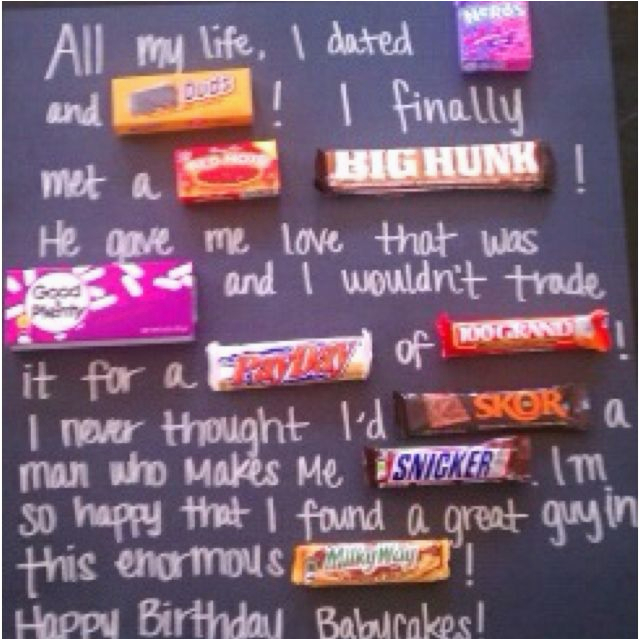 Inexpensive Birthday Gift Ideas Cute Idea My Friend Made This For Her Boyfriend 39 S