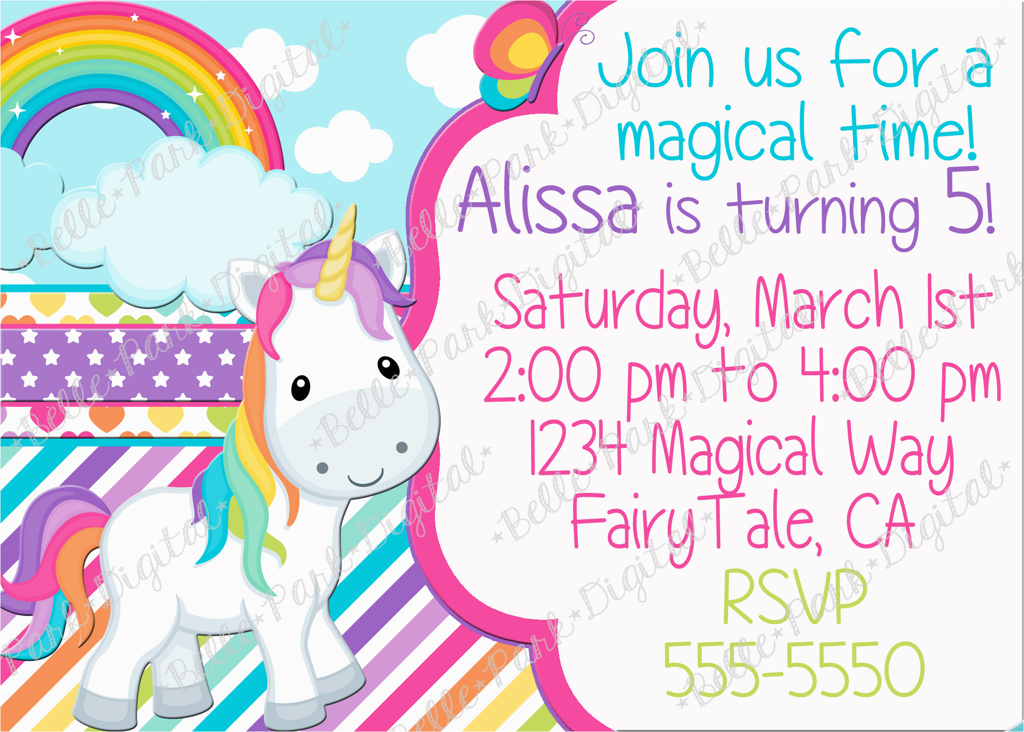 birthday invites cute unicorn cool unicorn birthday invitation wording