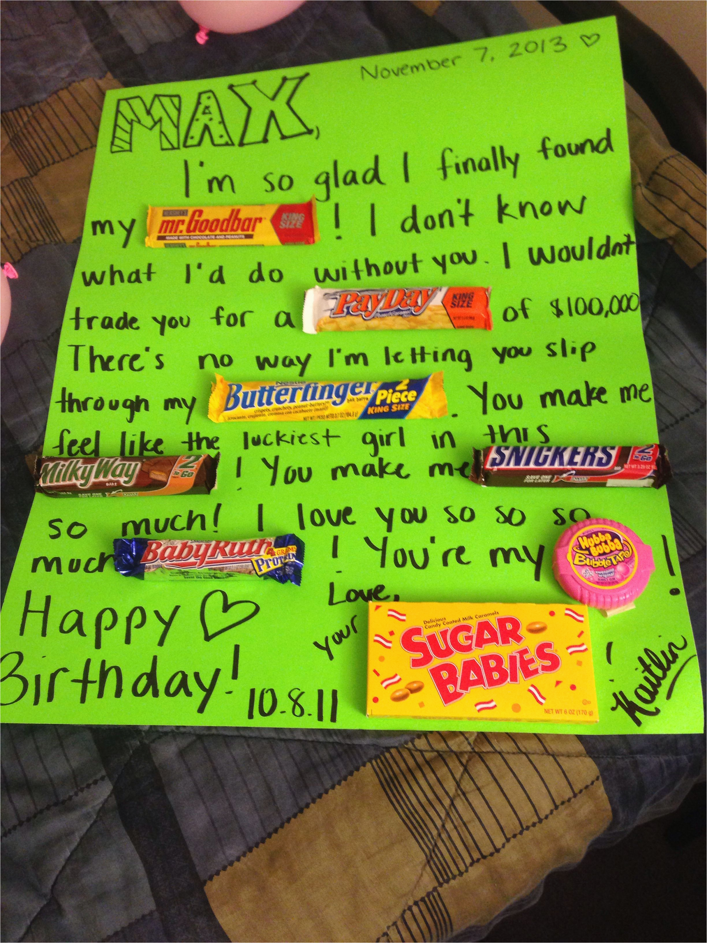 Cute Gifts To Get Your Girlfriend For Her Birthday My Boyfriend On His Candy