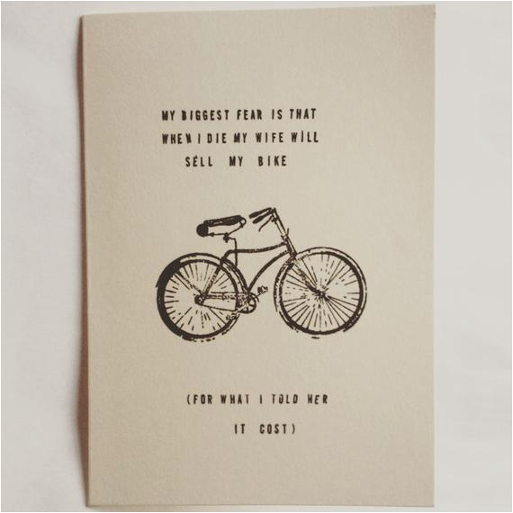 funny bike card birthday cards for a
