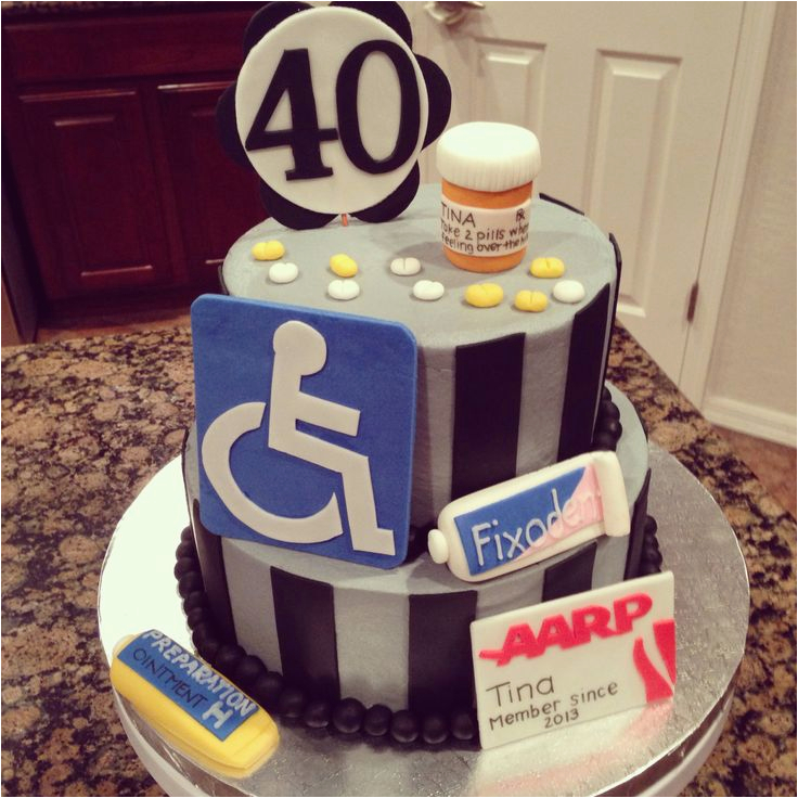 Dad 40th Birthday Ideas 82 Best Cakes Over The Hill Images On Pinterest