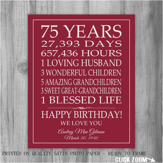 Dad 75th Birthday Card Gift Ideas For Ftempo