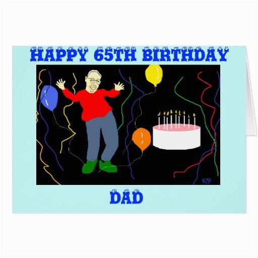 dad 65th birthday card zazzle