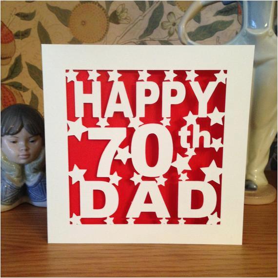 dad 70th birthday card 30th 40th 50th 60th 75th