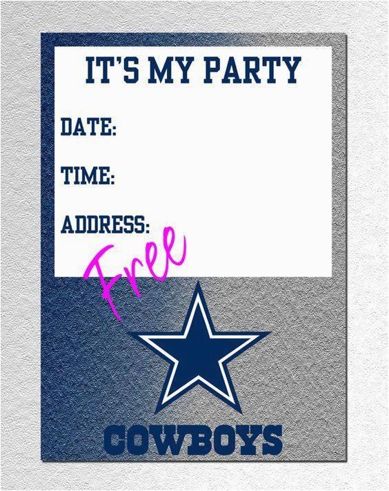 dallas cowboys kids invitations