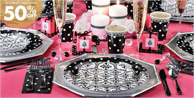 damask baby shower decorations