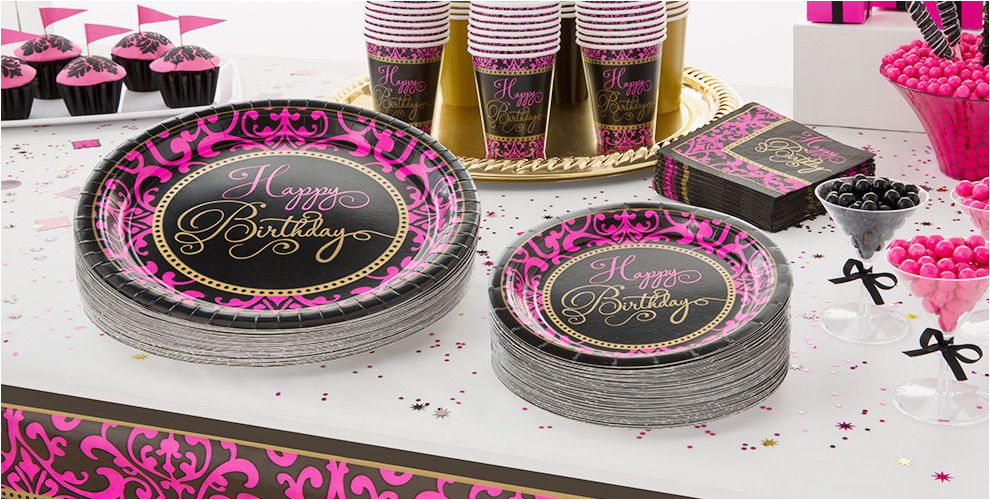 damask birthday party supplies do