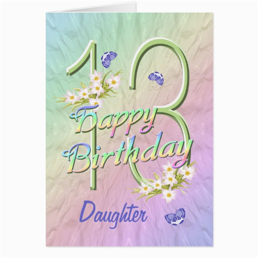 Daughter 13th Birthday Card Quotes For Quotesgram