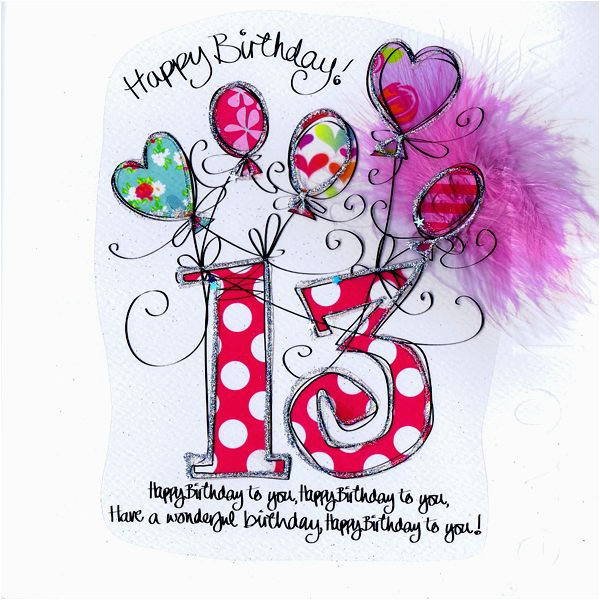 card age 13th birthday pink balloons card ideas